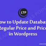 How to Update Database Regular Price and Price in Wordpress