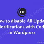 How to disable All Update Notifications with Code in Wordpress