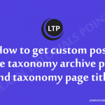 How-to-get-custom-post-type-taxonomy-archive-page-and-taxonomy-page-title.